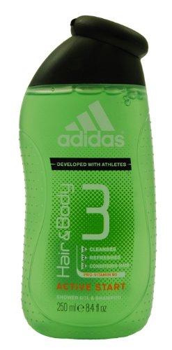 Original Adidas Showergel/ Duschgel Haut & Haar/ Hair&Body 3/ Shampoo/ ACTIVE START/ 250ml