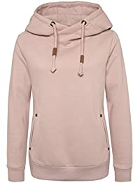 SUBLEVEL Damen Sweat-Hoodie in Rosa, Blau & Grau   Sportlich-Eleganter Kapuzenpullover