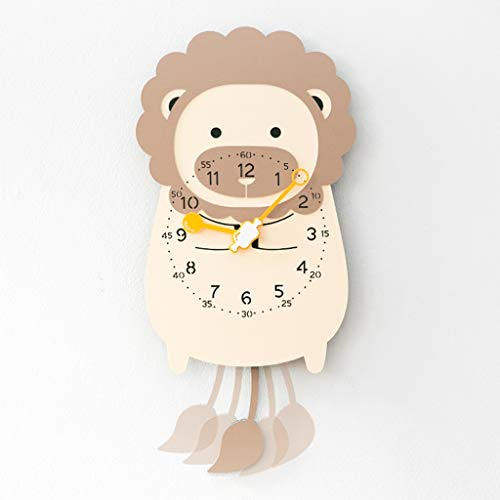 PLL Schöne Cartoon Sway Wanduhr Moderne Pendeluhr Kreative Lion Modellierung Uhr