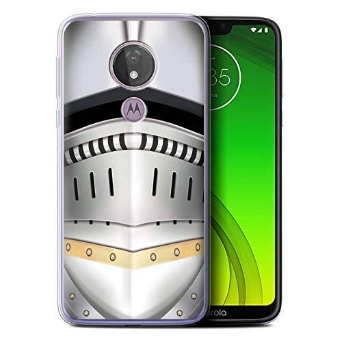 eSwish Gel TPU Hülle/Case für Motorola Moto G7 Power/Renaissance Helm Muster/Ritter Rüstung Kollektion
