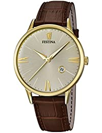 Festina Herren-Armbanduhr CORREA CLASICO Analog Quarz Leder F16825-2