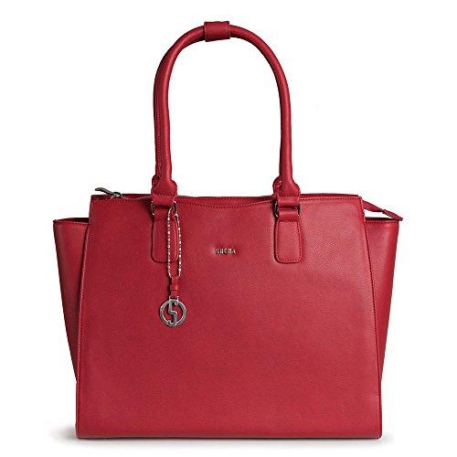 SOCHA SO-Caddy-Rouge Designer Notebook Tasche für Damen, 39,11 cm (15,6 Zoll) rot