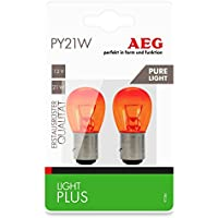 AEG Automotive 97284 Lámpara Light Plus Pure Light PY21W, 12 V, set de 2 piezas