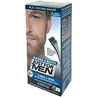 Just for Men Barba y Baffi Color Permanente con Pincel sin amoniaco castaño Claro M 25 2 x 14 ml
