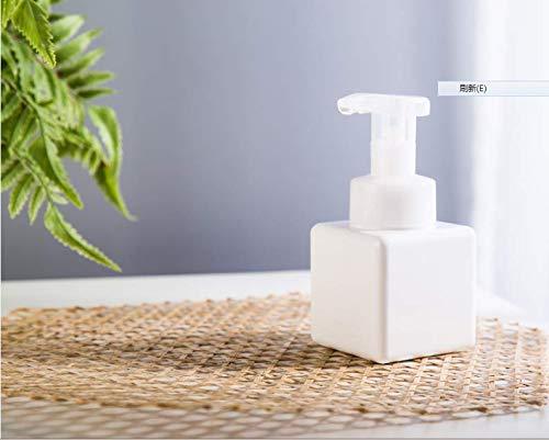 Amgend Mousse Schaumflasche 450Ml Kosmetische Unterflasche Shampoo Gesichtsreiniger Schaumflasche Pressen Schaum Ersatzflasche, 250Ml Reinweiß Schäumende Flasche - Schäumende Mousse