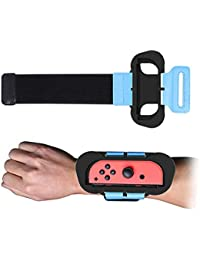 succeedw 2PCS Dance Band Armband Joy Con Grip Kompatibel Für Nintendo Switch Just Dance Armband Verstellbarer Gummiband Mit Platz Für Joy-Cons Links Oder Rechts