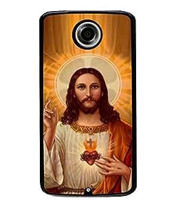 PrintVisa Designer Back Case Cover for Motorola Google Nexus 6 (jesus christ son of marium)