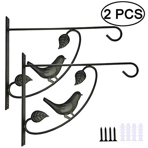 2 x Hänge-Pflanzenhalterung, Retro-Wandlaternen, Pflanzenhaken, strapazierfähige Halterung, gerade, Vogelfutterstation für drinnen und draußen, 2pcs, Free Size