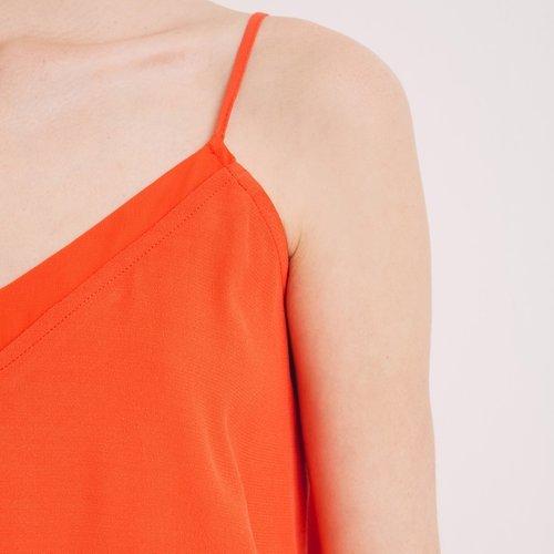 Promod Top à fines bretelles Femme Orange