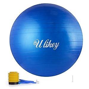 Ulikey Gymnastikball Balance Anti-Burst Ball Fitness Yoga Ball Sitzball von...