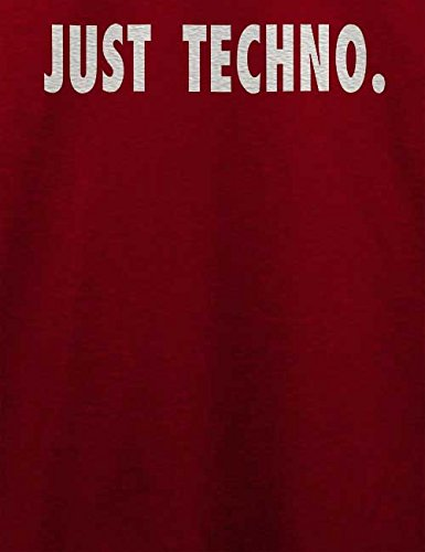 Just Techno T-Shirt Bordeaux
