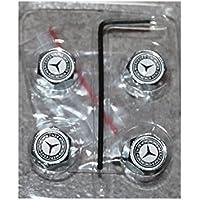 4tapones de válvula con antirrobo Logo Mercedes Benz