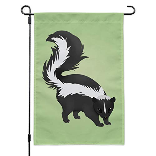 Graphics and More Skunk Posing Garden Yard Flagge Flag with Pole ()