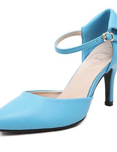 UWSZZ IL Sandali eleganti comfort Scarpe Donna-Sandali-Formale-Tacchi / A punta-A stiletto-Microfibra-Nero / Blu / Rosso Black