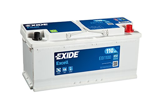 Exide, batteria per auto EB1100(W020Se) da 12V, 110A, 850CCA