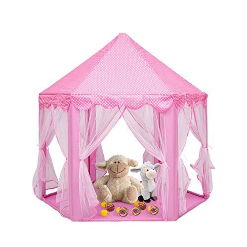 Bluelliant Kinder Spielzelt, Kinderzelt Kinderschloss Burg Spielhaus für Drinnen/ Draußen Garten Spielzel, Geschenke für Jungs & Baby