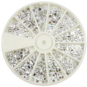 Päckchen Nail Art Nagelkunst Dekorationen Accessoire Mit 1200 Premium Qualität Silber Edelsteine / Strasssteine / Kristalle Von VAGA