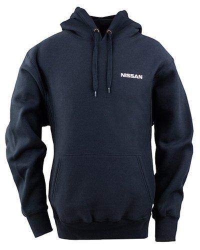 genuine-nissan-mens-heavyweight-pullover-hoodie-fleece-sweatshirt-navy-blue-size-medium-by-nissan
