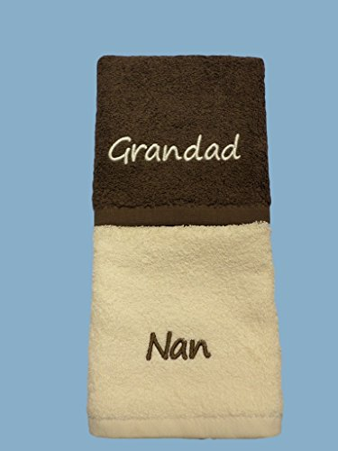 Nan and Grandad Embroidered Face Cloths by Embroidered For you