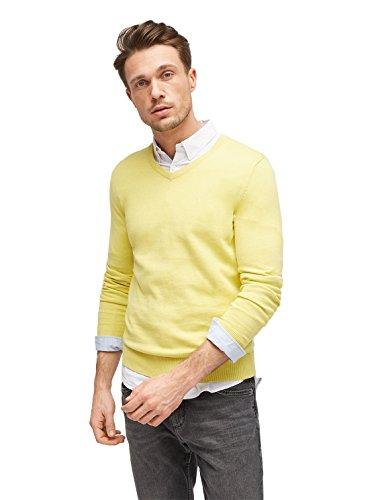 TOM TAILOR Männer Pullover & Strickjacken Basic Pullover mit V-Ausschnitt