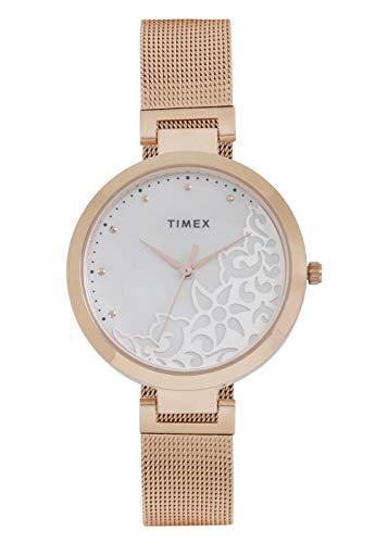 Timex Analog Silver Dial Women's Watch-TW000X220