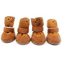 banbie8409 4pcs Perros Botas de Nieve Caliente del Invierno de la Cachemira  Suave Acogedor Caminar Correr db769af56f4