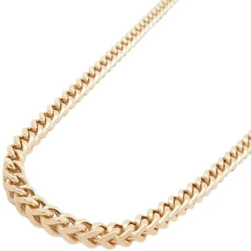 10K-gold-chain Herren-Halskette aus 3 kt Roségold, dicke Kordelkette, Länge: 76,2 cm, Breite: 10 mm, ELNC73 (10 K Gold Herren Halskette)