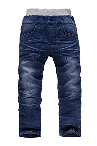 Boys Jeans Kids Trousers Denim Jeans Cowboy Designers Jeans Age 4-9Y (7 Year/ Recommended Height(130cm))