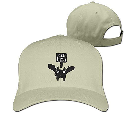ton Hat Adjustable Plain Cap, Halloween Bat Plain Baseball Cap Adjustable Size Curved Visor Hat O9216 ()