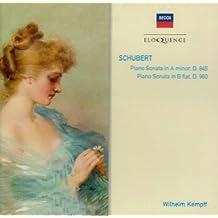 Piano Sonata in A minor/ Piano Sonata in B flat