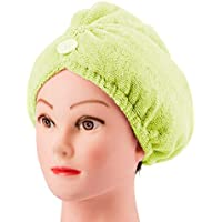 Toalla Pac cabello seco gorro de ducha en seco de la mujer del pelo (fruta verde) 1 Pc
