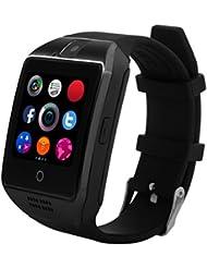 Smartwatch, CHEREEKI Montres Connectée Bluetooth Smart Watch avec Caméra Écran Incurvé Tactile Support SIM / TF Card Podomètre Sommeil Compatible Smartphones Android