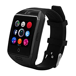 Curved Screen Smartwatch, CHEREEKI Smart Watch Bluetooth with Soft Strap, Supports SIM / TF Card, Remote Camera, Pedometer, Message Push, SMS, WhatsApp, Facebook, Twitter. For Android Smartphones (Samsung, HTC, Sony, Huawei, ZTE, OPPO, XIAOMI and etc) and IOS iPhone (Partial Functions)