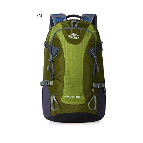 Borsa all'aperto alpinismo/ zaino Campeggio/Turismo/ escursioni Pack-blu verde