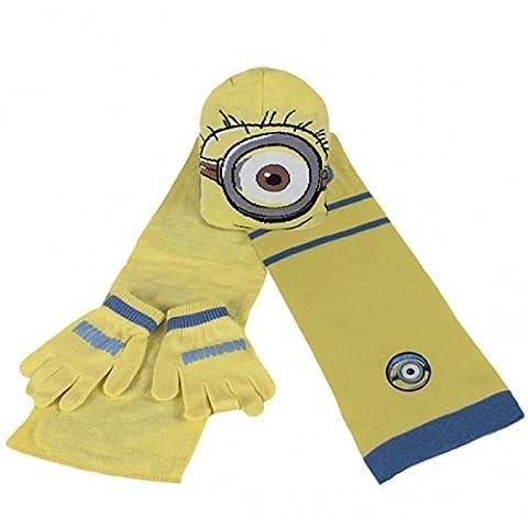 Minions Winter Set hat+gloves+scarf - Chapeau+gants+foulard - Mütze+Handschuhe+Schal (Cappello Di Inverno Guanti)