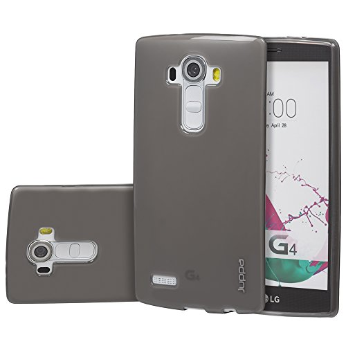 Juppa® LG G4 5,5 Zoll Smartphone TPU Silikon Tasche Hülle Schutzhülle mit LCD displayschutzfolie und Mikro-Reinigungstuch - Grün / Green Schwarz