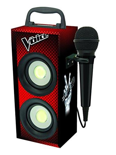 Lexibook The Voice La Plus Belle Voix Karaoke Portable avec Micro, 4W RMS, lumineux avec LED, prise jack, batterie rechargeable, rouge/noir, BTP155TVZ