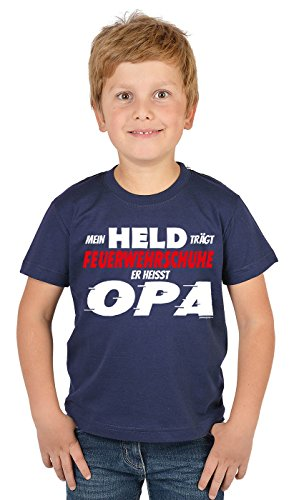 feuerwehrschuhe kinder Unbekannt Vatertag Shirt : Mein Held trägt Feuerwehrschuhe : Opa und Enkel Dress