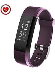 Pulsera Inteligente YG3 Plus Fitness Tracker Brazalete Deporte Actividad Monitor de Frecuencia Cardiáco y Sueño Contador de calorias Podómetro Control Remoto de Móvil para iOS y Android