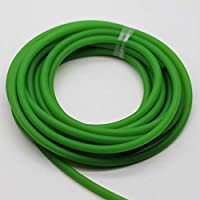 NUJA 1pc 5-10Meter Diámetro 4.5-5-6MM sólido elástico de Goma (sin Agujero) látex Natural Cuerda Yoga Usado Deportes Ejercicio y Salud física (tamaño : 6mm Green 10meters)
