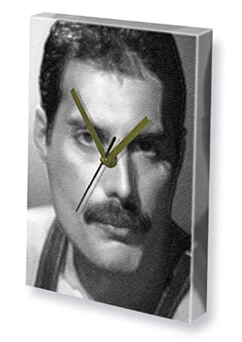 FREDDIE MERCURY - Canvas Clock (A5 - Signed by the Artist) #js004