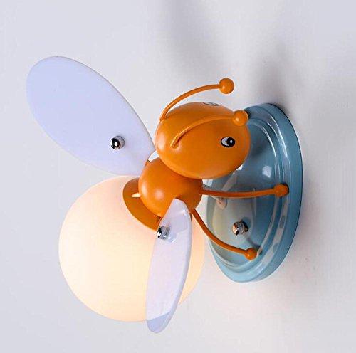 ZT Appliques LED Créatif abeille abat-jour E27 Intérieur chambre d'enfants décoration Décoration Chevet Éclairage Fixation