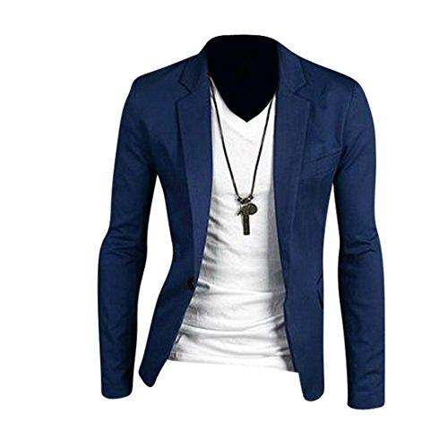 Jeansian Hommes Des Affaires Vestes Casual Fashion Trend Mens Business Jacket Coat 8966 Navy