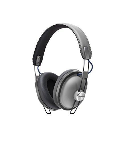 Panasonic RP-HTX80BE-H Bluetooth Kopfhörer (Over-Ear, 24 h Akkulaufzeit, Quick Charge, 40mm Wandler, Sprachsteuerung, grau )