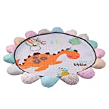 LCDY Baumwoll-Kindermatten Raumklettermatten Faltbare Babyspielmatten Yogamatten Cartoon-Muster Geschenke für Kinder,Purple,180 * 150CM
