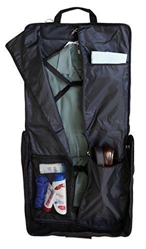 ZEGUR Kleidersack Anzughülle für bis zu 3 Anzüge, Kleiderhülle Handgepäckstück für jede Reise Geschäftsreise - mit verstellbarem Schultergurt und mehreren Taschen für weitere Gegenstände - Schwarz Test