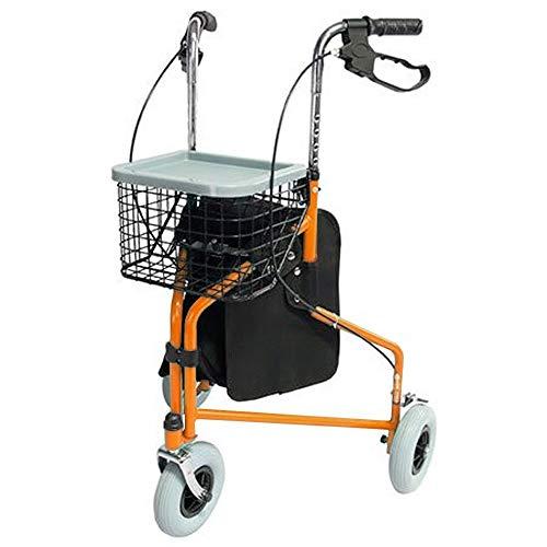 Mobiclinic Andador de 3 Ruedas | Modelo Caleta | Rollator Plegable | Altura Regulable 85-100 cm | Peso máximo 100kg