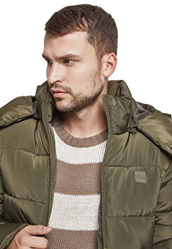 Urban Classics Herren Jacke Hooded Puffer Jacket, Darkolive, S - 4