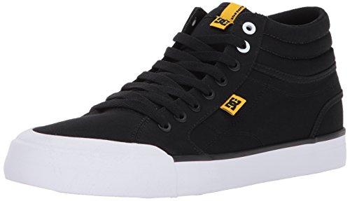 DC, Sneaker uomo Black/White/Yellow