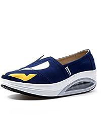 Zapatos de mujer Lienzo Primavera Otoño Mocasines y Slip-Ons Conducción Zapatos Fitness Shake Zapatos Sacudir...